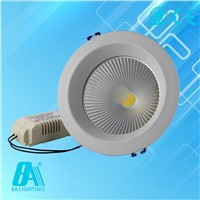 2800-6500K Aluminum COB LED Downlight With 4 Inch 15w Cool Warm White