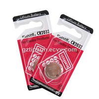 Hot Sale 1 Piece Pack Maxell CR2032 Button Cell for Remote Control