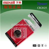 Individual Blister Card Package 1 Piece Pack Maxell CR2025 Button Cell