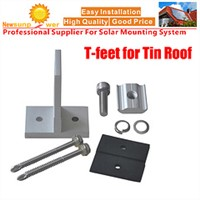 Solar T foot Tin Roof Hooks with Self-tapping Screws