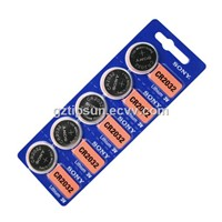 Sony Blister Card Pack 5pcs CR2032 3V CMOS Lithium Button Battery