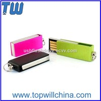 Mini Slim Metal Twister USB Flash Drives 2GB 4GB 8GB 16GB 32GB with Free Logo