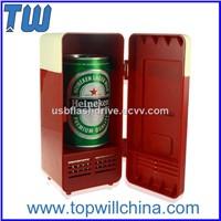 Usb Gadgets Mini Tin Can Usb Fridge Cooling and Heating Functions