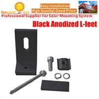 Tin Roof Solar Black Anodized L-feet Group