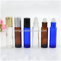 10ml Clear,amber,blue perfume roll on bottle with cap and roller