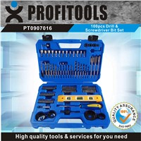 100pcs New Designed Drill and Screwdriver Bit Set with  portable case