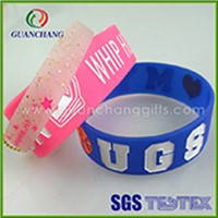 Hot selling fashionable promoting printed fancy smart silicone wristband wholesale China manufacture