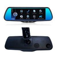 "7.36"" Car DVR with GPS, Hand-Free Bluetooth, Multi-Media Player, Rear-View Auto Switch Over"