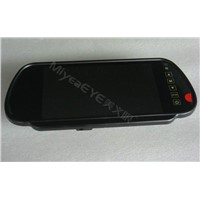 7 inch car rearview mirror monitor,touch button View Car Rear Mirror,Car Rear View LCD Monitor