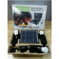 solar system kits solar energy power with small solar panel for home lighting