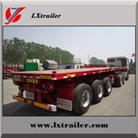Manufacturer 60Ton 3 axles 40ft container flatbed semi trailer