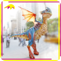 Easy Control Rubber Realistic Walking Dinosaur Costume