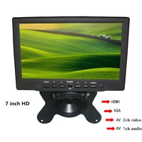 7 Inch Car LCD Monitor with HDMI Input, HDMI/VGA/AV 7 Inch Monitor