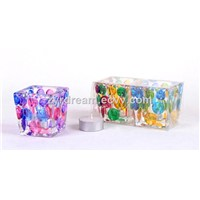 New Design Colored Glass Candle Holder