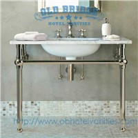High quality Metal Bathroom Vanities with steel legs