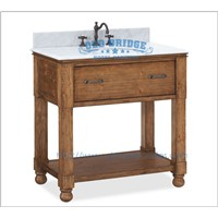 High quality bathroom sink vanity base with wooden legs