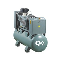Compact screw air compressor