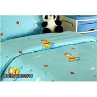 Carton Design Hospital Bed Sheet Sets (Pillow Case, Flat Sheet, Duvet Cover)