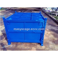 Industrial Stackable Foldable Steel Pallet Containers for Storage