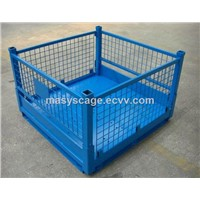 Warehouse Foldable Metal Wire Mesh Pallet Cage