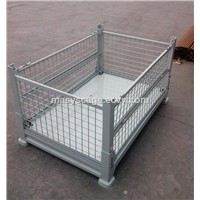 Warehouse Storage Secure Folding Stackable Wire Mesh Container for Warehouse Use