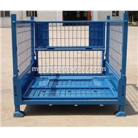 Stackable Wire Mesh Container for Forklifts