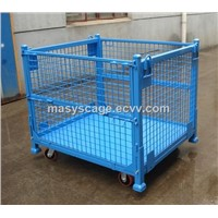 Warehouse Storage Secure Folding Wire Mesh Container Used for Storage