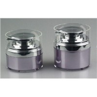 30ml 1oz 50ml Cosmetic Airless Jar with Silver Pump