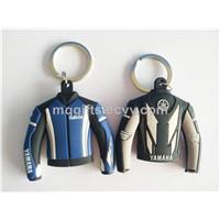 New Product Soft  3D PVC Yamaha Jacket Keychain