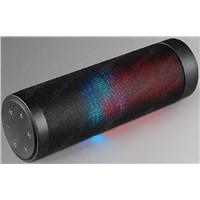 Hight Quality 16W Cylindrical  LED Flashing Stereo Bluetooth Speaker