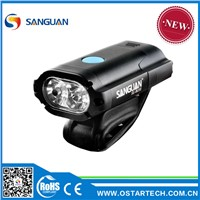 Aluminium Alloy usb bike light and ABS Material LED Bike Front Light usb