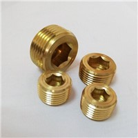 Hex brass pipe plug 1/8 allen npt cheap price