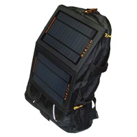 Fashionable 6w solar backpack with high efficient Sunpower solar panel