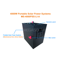 Eco friendly 4KW portable solar generator system for home