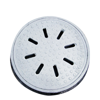 Middle East FRP Watertight Manhole Cover and Frame En12 A15 Plastic Manhole Cover Grass
