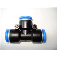 3 ways T type plastic pipe fittings
