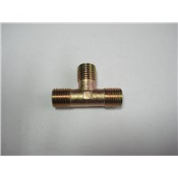 Brass T Shape Fuel Pipe Equal Male Tee Adapter Connector