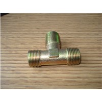 Brass tee connector nylon & PU hose connector
