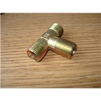 Brass Tee hose fittings/Brass Tee reducer/ Brass threaded hose fitting/ Brass connector