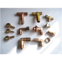 Brass banjo fitting for air brake hose brake hose end fitting