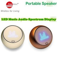 LED Music Audio Spectrum Display Mini Portable creative bluetooth speakers for mobile laptop