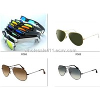 wholessale Sunglasses Men Women Polarized rb Aviator retro glasses 3025 ok with logo paypal accept