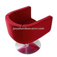 Rotating sofa chair swivel chair stainless steel leg single seat chair leisure chair office chair