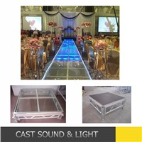 Portable glass aluminum stage platform/organic stage/folding stage