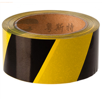 No Adhesive Warning Custom PE Reflective Barrier Caution Tape