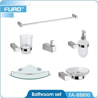 Wall mounted ceramic bathroom set