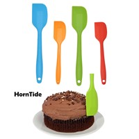 HornTide 4-Piece Silicone Spatula Set Multi-Color Spatulas