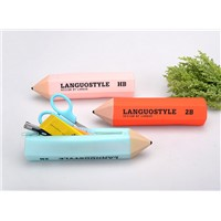 Novelty pencil-shaped pen case bags pencil case