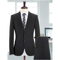 Suit men's suits groom wedding dress male occupation dress slim stripe