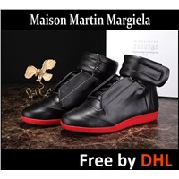 Maison Martin Margiela Shoes Casual Skateboard Genuine Leather Mid Top Hook Loop Mens Sneakers men